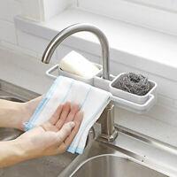 Kitchen Bathroom Sponge Sink Tidy Holder Storage Rack Strainer Organizer Gadget