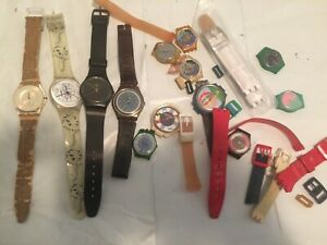 [DO NOT WORK] Vintage Swatch Watch Parts Lot