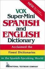 Vox Super-Mini Spanish and English Dictionary Vox Paperback