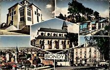 Bondy Frankreich CPA Mehrbild AK ~1960/70 L'église La mairie Le canal u.a.