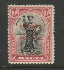 Malta 1928 10/- Black & carmine SG 192 Mint.