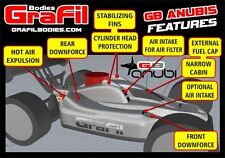 Grafil 1/8 Scale Buggy Body G8 Anubis fits Kyosho Inferno MBX7 New! OFF-GB01