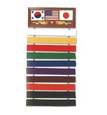 Deluxe Martial Arts Karate Belt Display for Up to 10 Belts