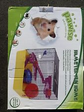 Hamster cage fun house gerbil cage mouse cage with hamster wheel food bowls