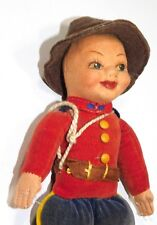Antique Norah Wellings Doll Royal Canadian Mounted Police Mountie Cloth