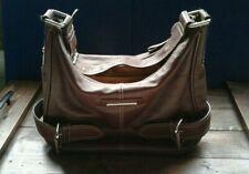 Franco Sarto Dark Brown  Leather Medium Shoulder Hobo Purse