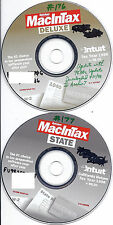 Intuit Quicken MacInTax Deluxe 1998 + state (2 CDs) v 98.00 and key