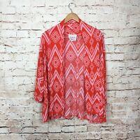 Fantastic Fawn Geometric Cardigan Sweater Size Large