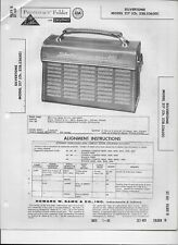 1960 PHOTOFACT Silvertone AM Transistor Radio Receiver 217 Manual #1152