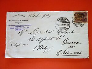 Mexico 1902 Cover sent to Italy stamped with a single 10 cent. stamp