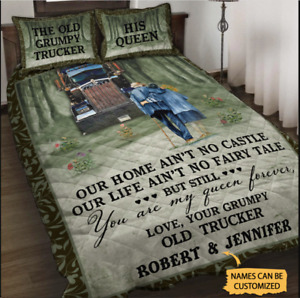 Personalized Trucker My Queen Forever Bedding Set