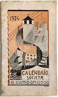 Futurismo Calendario Società A CAMPANASSA Savona Opera Naz. Balilla 1934