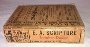 Vintage 1922 OKMULGEE Oklahoma Telephone Book Phone Advertising Hardcover