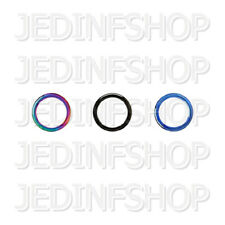 Segment Ring Hoop - Removable Piece | 2.0mm (12g) - 16mm | Titanium Anodised