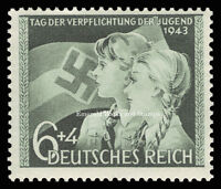 EBS Germany 1943 - Hitler Youth - Day of Allegiance to Hitler - Michel 843 MNH**