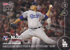 2016 Topps NOW 576 Julio Urias Youngest Dodger PS Win Rookie ONLY 817 Printed RC