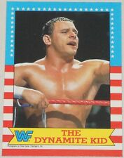 Dynamite Kid 1987 Topps WWF Card 20 WWE British Bulldogs All Japan Pro Wrestling