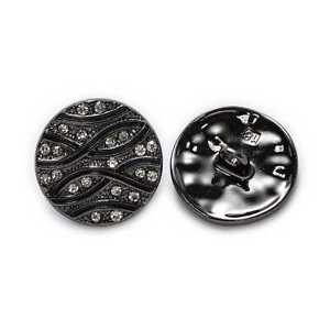 5pcs Retro Line Round Metal Buttons for Clothing Repair Sewing Handmade Decor