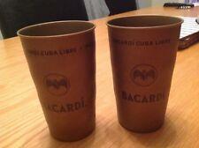 BRAND NEW  4 x BACARDI CUBA LIBRE METAL CUPS/TUMBLERS