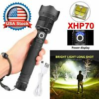 350000Lumens Zoom XHP70 LED USB Rechargeable Torch Flashlight Super Bright USA
