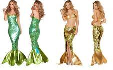 Adult Mermaid Fancy Dresses Cosplay Women Halloween Costume Party Masquerade AU