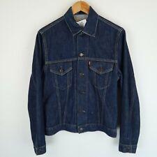 LEVIS Vintage red tab blue denim trucker jacket 70500 SZ Small Medium (E8223)