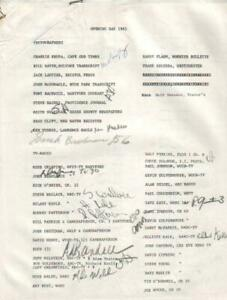 Opening Day 1985 Boston Red Sox Sign In Sheet Autographed by 120 w/ Rizzuto