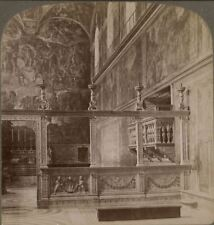 Italy. Sistine Chapel, Where Popes Are Crowned. The Vatican Rome  Stereoview 014
