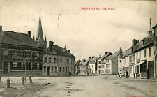 France Marvilles Marville Marquillies - La Place 1914 postcard