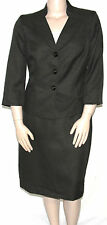 Evan Picone Stand Collar Jacket & Pencil Skirt Loden Green/14w