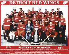 1953-54 DETROIT RED WINGS HOCKEY STANLEY CUP CHAMPIONS 8X10 TEAM PHOTO