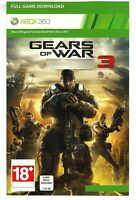 Gears Of War 3 - Full Game Download Card - Microsoft Xbox 360 Live DLC Gold