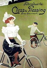 Art Deco Poster German  Bicycle Cycle Bike Ad Print