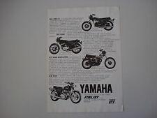 advertising Pubblicità 1976 MOTO YAMAHA RD 350 C/XT 500 ENDURO/XS 500/XS 650
