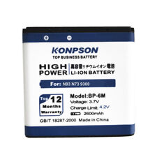 2600mAh BP-6M BP 6M for NOKIA N93 Battery N73 9300 6233 6280 6282 3250 6151 6234