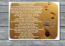 Personalised A4 Gift Keepsake Footprints In The Sand Poem  Print Only