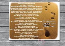 Personalizados A4 Regalo Recuerdo huellas en la arena Poema imprimir sólo