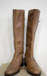 Hobbs Tan Leather Flat Knee High Boots