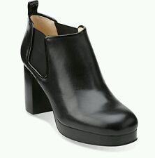 SIZE 8 US10  ORLA KIELY AUDREY BLACK LEATHER PLATFORM WOMENS CHELSEA BOOTS GIFT