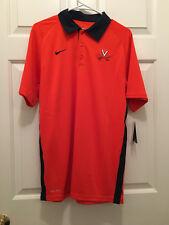 Nwt Virginia Uva Cavaliers Soccer Team Issued Nike Orange Blue Polo Shirt Small