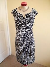 ADRIANNA PAPELL Black White DRESS Size 18 BNWT NEW Bodycon Stretch Animal Print