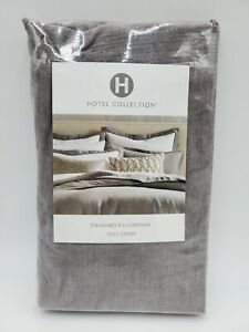 Hotel Collection 100% Linen Standard Sham Grey