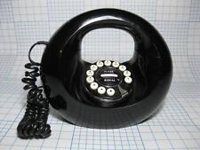 Handbag Donut Telephone Black Art #841.180 push button flash redial corded