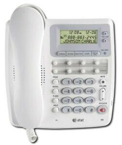 AT&T 950 Corded Phone | Speakerphone, Call ID/Waiting White English, Spanish
