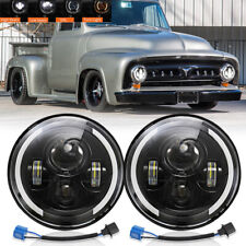 7 Inch Led Headlights With Amber Light For 1953 1977 Ford F 100 F 250 F 350 Pickup Fits More Than One Vehicle