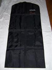 CHANEL BLACK NYLON ZIPPERED TRAVEL GARMENT STORAGE BAG 53 X 24
