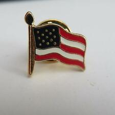 12 American Flag lapel pins gold finish made in the USA