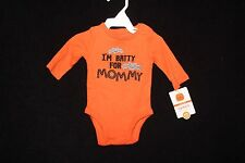 NWT 3 Month Unisex Carter's Long-Sleeve Orange Bodysuit