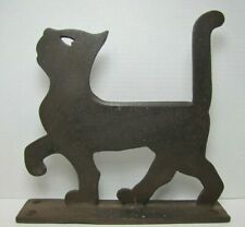 1920s Cast Iron Cat Boot Scraper Doorstop Heart Eye Norristown Pa Foundry Rhtf