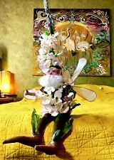 Mark Roberts Fairy Elf White Flowers Leaves Large Shelf Sitter Snapdragon Whimsy